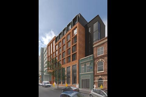 Newhall Square, Birmingham, by Associated Architects - elevation